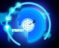 Digital Strategy plan graphic. 2018 Stock Photos