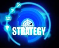 Digital Strategy plan graphic. 2018 Stock Photo