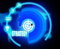 Digital Strategy plan graphic. 2018 Royalty Free Stock Photos