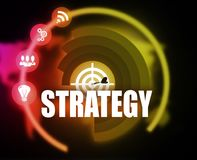 Digital Strategy plan graphic. 2018 Stock Image