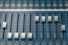 Digital studio mixer Stock Image