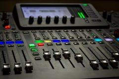 The digital studio mixer Royalty Free Stock Photo
