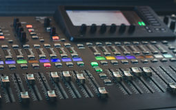 The digital studio mixer Stock Images