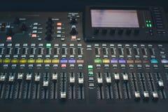 The digital studio mixer Stock Image