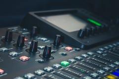 The digital studio mixer Royalty Free Stock Photography