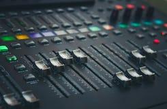The digital studio mixer Royalty Free Stock Images