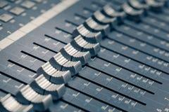 Digital-Studiomischer Stockfoto