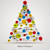 Digital style Christmas tree. Stock Photos