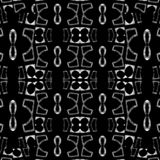 Abstract geometric ethnic pattern design in black and white colors. Digital style technique modern abstract geometric ethnic or tribal style seamless pattern stock illustration