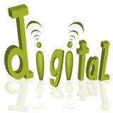 Digital Stylized Text Royalty Free Stock Photo