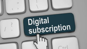 Digital subscription for online content Royalty Free Stock Image