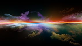 Digital Sunset royalty free stock image