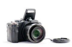 Digital superzoom camera Stock Photos