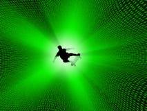 Digital surfer stock illustration