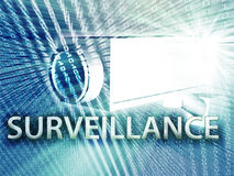 Digital surveillance Stock Image