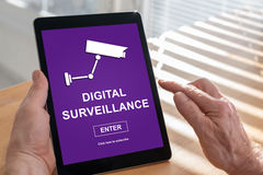 Digital surveillance concept on a tablet Royalty Free Stock Image