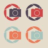 digital symbolsvektor för tillgänglig kamera Logo för slutaresymbolstecken royaltyfri illustrationer