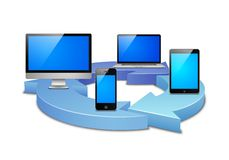 Digital synchronization Stock Photos