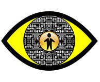 Digital szpiega oko Obrazy Stock