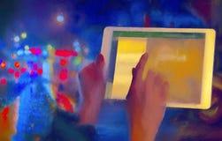 Digital tablet Arkivfoto