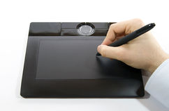 Digital Tablet. A hand drawing on a computer graphics tablet Royalty Free Stock Images