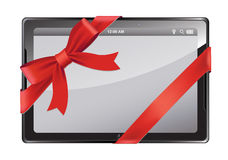 Digital tablet as a gift Royalty Free Stock Images