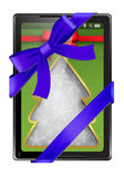 Digital tablet as a gift Stock Image