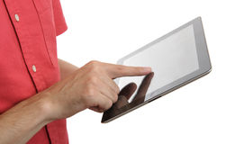 Digital tablet close up Royalty Free Stock Image