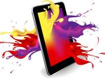 Digital tablet color Stock Photo