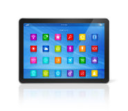 Digital Tablet Computer - apps icons interface vector illustration