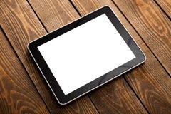 Digital-Tablet-Computer auf Schreibtisch stockfotografie