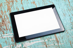 Digital Tablet Computer With Blank White Screen Stock Image