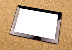 Digital Tablet Computer With Blank White Screen Stock Photography