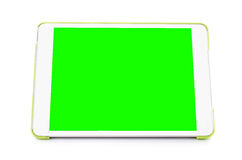 Digital tablet computer with isolated green screen Royalty Free Stock Photos