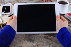 Digital tablet computer with isolated screen Stock Image