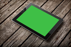 Digital tablet computer with isolated screen Stock Photo