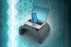 Digital Tablet Computer and Laptop Stock Photos