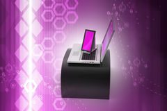 Digital Tablet Computer and Laptop Royalty Free Stock Image
