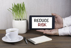 Digital tablet computer in male hands - REDUCE RISK Stock Images