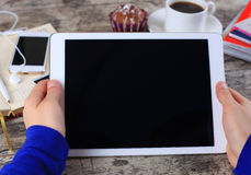 Digital tablet computer with  screen Stock Image