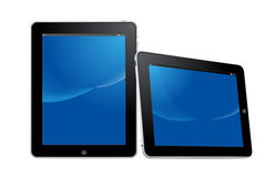 Digital tablet device in vertical and horizontal v Stock Image
