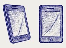 Digital tablet för illustration stock illustrationer