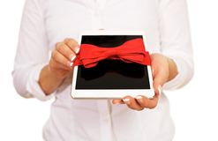 Digital Tablet Gift Stock Images