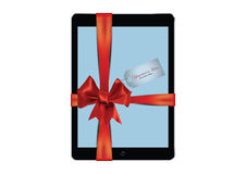 Digital tablet gift Royalty Free Stock Images