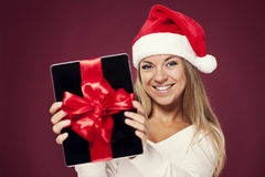 Digital tablet gift Stock Photography