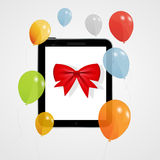 Digital tablet gift vector illustration Royalty Free Stock Image