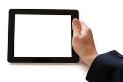 Digital tablet in hand Stock Photo