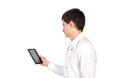 Digital tablet in hand Stock Photos