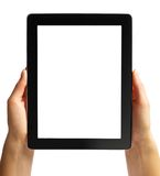 Digital Tablet in Hand Isolated in White Stock Photos