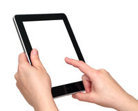 Digital tablet in hands Royalty Free Stock Photo